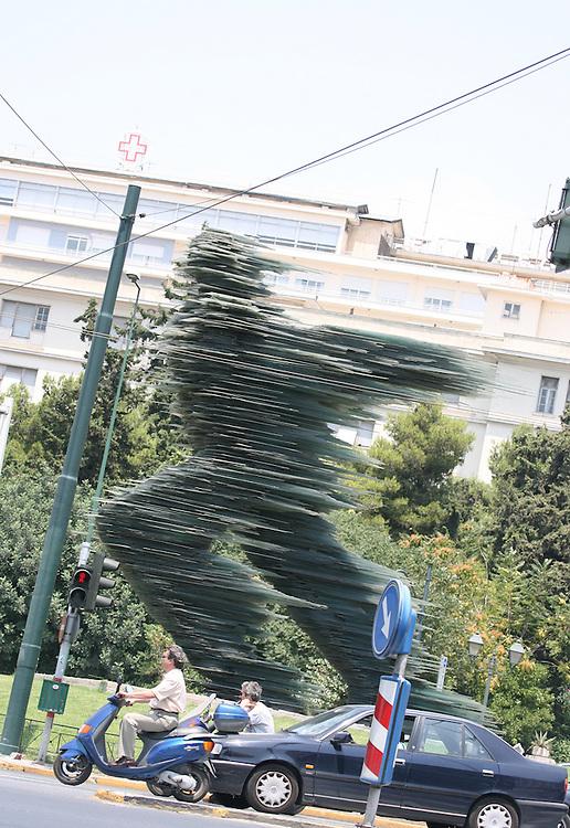 RUNNING MAN SCULPTURE, ATHENS GREECE