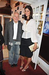 SIR IAN HOLM and KATRINA PAVLOS at the Grand Classics screening of American Pie in association with Grey Goose vodka celebrating 100 years of Universal Pictures' Greatest films held at the Electric Cinema, Portobello Road, London on 30th April 2012.
