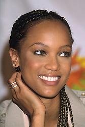 Oct 14, 1998; Los Angeles, CA, USA; Model TYRA BANKS at the Nickelodeon 'The Big Help-A-Thon 5.'  (Credit Image: © Kathy Hutchins/ZUMAPRESS.com)