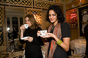 FIONA RUSHTON; SIMA BIBI, Kate Grand hosts a Love Tea and Treasure hunt at Flash. Royal Academy. Burlington Gardens. London. 10 december 2008 *** Local Caption *** -DO NOT ARCHIVE-© CopyrightoPhotograph by Dafydd Jones. 248 Clapham Rd. London SW9 0PZ. Tel 0207 820 0771. www.dafjones.com.<br />