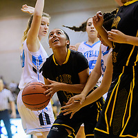 Tohatchi Cougar Kalian Mitchell (5) breaks through the Cleveland Storm defense Thursday at Gallup High School.