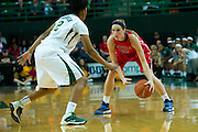 WACO, TX - DECEMBER 18: Gracie Frizzell #12 of the Mississippi Lady Rebels brings the ball up court against the Baylor Bears on December 18 at the Ferrell Center in Waco, Texas.  (Photo by Cooper Neill) *** Local Caption *** Gracie Frizzell