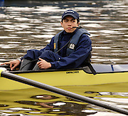 Putney, London, ENGLAND, 29.03.2006,  Oxford Blue boat cox Seb Pearce, 2006, Boat Race, Varsity, Tideway Week, Wednesday,  © Peter Spurrier/Intersport-images.com,[Mandatory Credit Peter Spurrier/ Intersport Images] Varsity, Boat race. Rowing Course: River Thames, Championship course, Putney to Mortlake 4.25 Miles