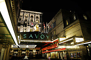 Exterior of newly re-opened Savoy hotel in London.