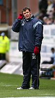 Photo. Andrew Unwin.<br /> Burnley v Rotherham, Coca-Cola Championship, Turf Moor, Burnley 12/03/2005.<br /> Burnley's manager, Steve Cotterill.