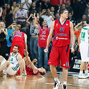 CSKA Moscow's Viktor Khryapa during their Euroleague Final Four semi final Game 1 basketball match CSKA Moscow's between Panathinaikos at the Sinan Erdem Arena in Istanbul at Turkey on Friday, May, 11, 2012. Photo by TURKPIX