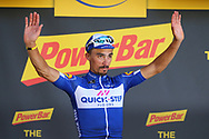 Podium, Julian Alaphilippe (FRA - QuickStep - Floors) winner during the 105th Tour de France 2018, Stage 16, Carcassonne - Bagneres de Luchon (218 km) on July 24th, 2018 - Photo Kei Tsuji / BettiniPhoto / ProSportsImages / DPPI