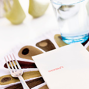 Le Parker Meridien in Palm Springs, with decor by famed designer Joseph Adler, is a hot, trendy boutique hotels, that also serves as a hideaway for celebrities escaping Los Angeles. Pictured are details from Norma's, the hotel's breakfast restaurant. ..