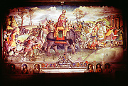 Hannibal (247-182 BC) Carthaginian general. Hannibal and his army crossing the Alps with elephants to make war on Rome 218 BC. Collection Palazzo dei Conservatori.