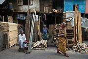Timber bazar, Jorasanko district, Calcutta (Kolkata)