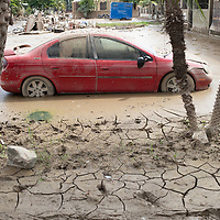 In the aftermath of hurricanes Eta and iota, a car sits caked in mud in La Planeta, San Pedro Sula.<br /> <br /> Hurricanes Eta and Iota hit hard on the north coast of Honduras, leaving some areas flooded for three weeks, destroying people's furniture, belongings, vehicles and houses as well as standing crops.