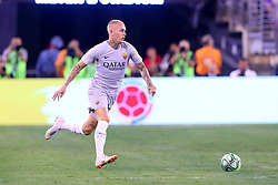 August 7, 2018 - East Rutherford, NJ, U.S. - EAST RUTHERFORD, NJ - AUGUST 07:  Roma defender Rick Karsdorp (2) during the second half of the International Champions Cup game between Real Madrid and AS Roma on August 7, 2018, at Met Life Stadium in East Rutherford, NJ.  (Photo by Rich Graessle/Icon Sportswire) (Credit Image: © Rich Graessle/Icon SMI via ZUMA Press)