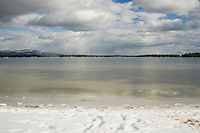 The dead of winter 2015 takes on the illusion of a summers day as seen from Leavitt Beach in Meredith on Wednesday afternoon.  (Karen Bobotas/for the Laconia Daily Sun)