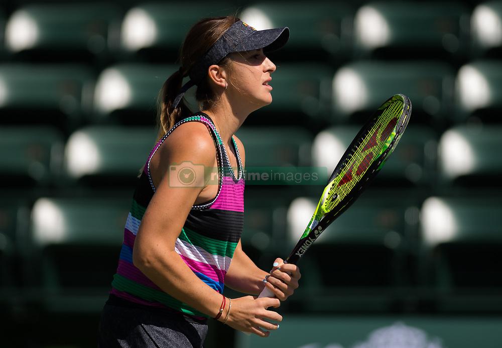 March 15, 2019 - Indian Wells, USA - Belinda Bencic of Switzerland during practice ahead of the semi-final of the 2019 BNP Paribas Open WTA Premier Mandatory tennis tournament (Credit Image: © AFP7 via ZUMA Wire)