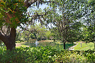 Ponds and statues abound on the carefully landscaped grounds of The John and Mabel Ringling Museum in Sarasota, Florida