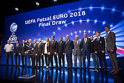 September 29, 2017 - Ljubljana, Slovenia, Slovenia - All trainers of national teams during Final Draw UEFA Futsal EURO 2018 on Ljubljana Castle on September 29, 2017 in Ljubljana, Slovenia. (Credit Image: © Damjan Zibert/NurPhoto via ZUMA Press)