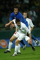 PARMA, 13-10-04<br />Qualificazioni Mondiali<br />Italia Bielorussia<br />nella  foto Gilardino e Tarlovsky<br />Foto Snapshot / Graffiti