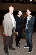 NICHOLAS LOGSDAIL; MARINA ABRAMOVIC; ALEX LOGSDAIL, Ai Weiwei Unilever series opening. Tate Modern. 11 October 2010. -DO NOT ARCHIVE-© Copyright Photograph by Dafydd Jones. 248 Clapham Rd. London SW9 0PZ. Tel 0207 820 0771. www.dafjones.com.