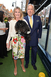 DAVID McDONOUGH and LADY MARY-GAYE CURZON and their dog Pocket at A Date With Your Dog At George in aid of the Dogs Trust held at George, 87-88 Mount Street, London on 9th September 2014.