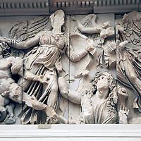 Europe, Germany, Berlin. Athena Frieze Pergamon Museum.