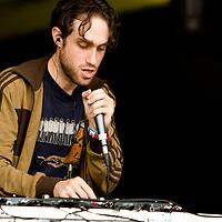 Beardyman performing live on the Main Stage at Summer Sundae Weekender 2009, De Montfort Hall, Leicester, UK, 2009-08-14
