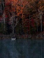 Early Fall morning on a lake in North Carolina.