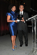 New York, NY-April 18: (L-R) Honoree Pauletta Washington receives her award from Rev. Al Sharpton as she attends Rev. Al Sharpton's National Action Network's Keeper of the Dream Awards held at Cipriani's Wall Street on April 18, 2012 in New York City. (Photo by Terrence Jennings)
