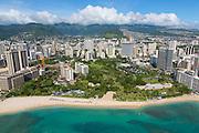 Aerial, Fort Derussey, Waikiki, Honolulu, Oahu, Hawaii