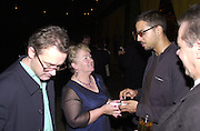 Mary Brennan 9 Damain's mother ) and David Blaine. Damian Hirst opening reception and after party. Gagosian gallery and 118 10th Ave. New York. 23 September 2000.  © Copyright Photograph by Dafydd Jones 66 Stockwell Park Rd. London SW9 0DA Tel 020 7733 0108 www.dafjones.com