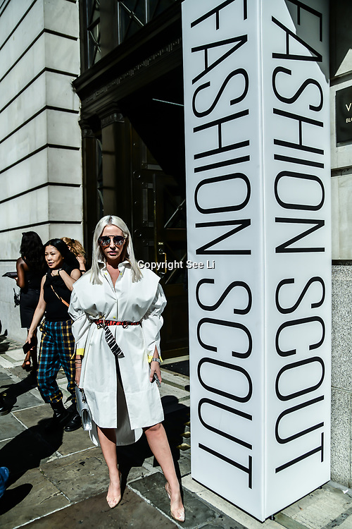 Naomi Isted attend Backstage at Fashion Scout - SS19 Day 3, on 15 September 2019, London, UK