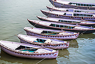Boats on the River Ganges, Varanasi, Uttar Pradesh, India