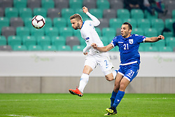 Nejc Skubic of Slovenia during football match between National Teams of Slovenia and Cyprus in Final Tournament of UEFA Nations League 2019, on October 16, 2018 in SRC Stozice, Ljubljana, Slovenia. Photo by Urban Urbanc / Sportida
