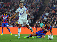 Football - 2017 / 2018 EFL (League) Cup - Second Round: Crystal Palace vs. Ipswich Town<br /> <br /> Yohan Cabaye of Palace and Ben Folami of Ipswich at Selhurst Park.<br /> <br /> COLORSPORT/ANDREW COWIE