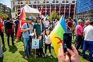 ROTTERDAM - Marokkaanse Nederlanders lopen een mars door het centrum van Rotterdam om te protesteren