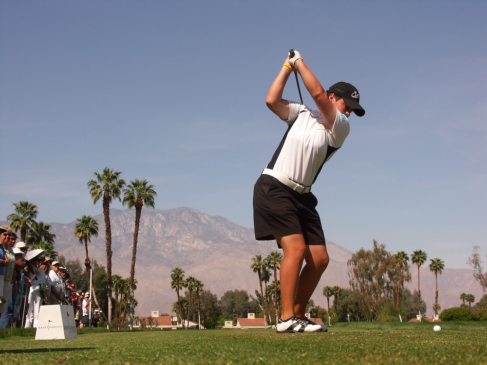 Meaghan Francella.2007 Kraft-Nabisco Championship.Fourth Round.Mission Hills CC.Dinah Shore Course.Rancho Mirage, CA.Sunday, April 1 2007.04/01/07.Photograph by Darren Carroll