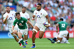 Joe Cokanasiga of England runs in a try in the second half - Mandatory byline: Patrick Khachfe/JMP - 07966 386802 - 24/08/2019 - RUGBY UNION - Twickenham Stadium - London, England - England v Ireland - Quilter International