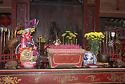 Vietnam, Hoi An Old town, Temple interior