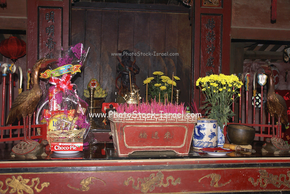 Vietnam, Hoi An Old town, Temple interior