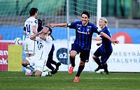 Fotball , 19. april 2015 ,   Eliteserien , Tippeligaen <br /> Stabæk - Viking 1-0<br /> jubel Nicholas Grossman , Stabæk scoring<br /> bak depper Magne Hoseth , Viking<br /> Foto: Digitalsport