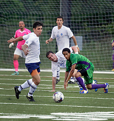 06 June 2015. New Orleans, Louisiana.<br /> National Premier Soccer League. NPSL. <br /> The New Orleans Jesters play Chattanooga FC in a Conference game at home in the Pan American Stadium. Chattanooga take a 4-0 victory over the Jesters.<br /> Photo; Charlie Varley/varleypix.com