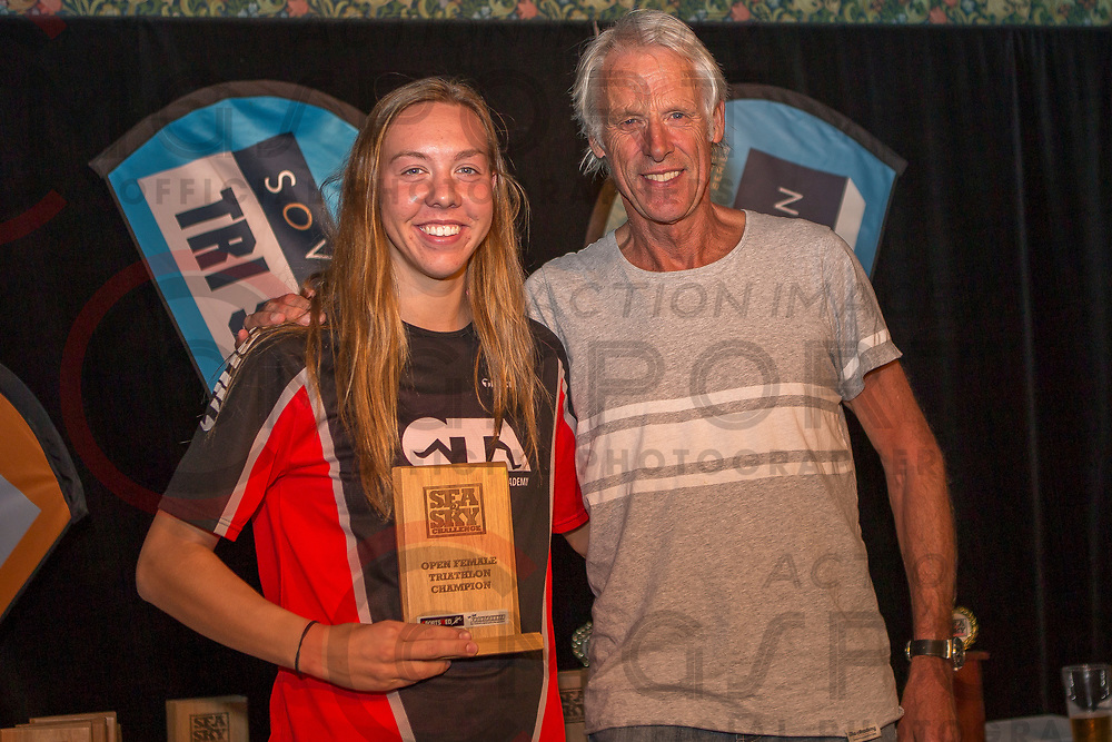 Presentations held at The Tannery for the Sovereign Tri Series ITU Sea2Sky Challenge held at Scarborough, Christchurch. April 2, 217<br /> Photo Kevin Clarke CMGSPORT<br /> ©cmgsport2017