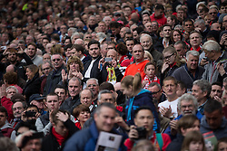 © Licensed to London News Pictures . 17/05/2015 .  Pre match . 0-0 . Manchester Utd vs Arsenal at Old Trafford Football Stadium , Manchester . Photo credit : Joel Goodman/LNP