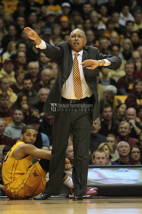 Dec 31, 2012; Minneapolis, MN, USA; Minnesota Golden Gophers head coach Tubby Smith against the Michigan State Spartans at Williams Arena. Minnesota defeated Michigan State 76-63. Mandatory Credit: Brace Hemmelgarn