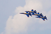 Four Blue Angels in a Tight Grouping