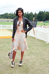 TALLULAH ADEYEMI at the Veuve Clicquot Gold Cup polo final held at Cowdray Park, Midhurst, West Sussex on 18th July 2010.