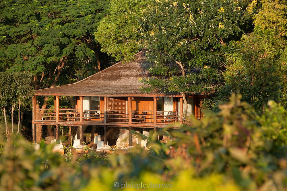 Villas at the Popa Mountain Resort, near the ancient city of Bagan, Myanmar
