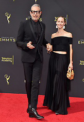 2019 Creative Arts Emmy Awards. Microsoft Theater, Los Angeles, California. EVENT September 14, 2019. 14 Sep 2019 Pictured: Jeff Goldblum,Emilie Livingston. Photo credit: AXELLE/BAUER-GRIFFIN / MEGA TheMegaAgency.com +1 888 505 6342