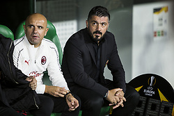 November 8, 2018 - Seville, Spain - GENNARO GATTUSO, head coach of Milan, before the Europa League Group F soccer match between Real Betis and AC Milan at the Benito Villamarin Stadium (Credit Image: © Daniel Gonzalez Acuna/ZUMA Wire)