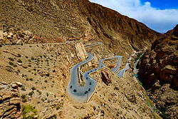 Motor cyclists on twisty road in the Dades Valley, Morocco<br /> <br /> (c) Andrew Wilson | Edinburgh Elite media