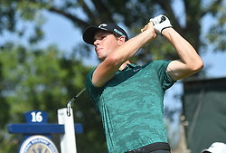 August 10, 2018 - St. Louis, Missouri, U.S. - ST. LOUIS, MO - AUGUST 10: Thomas Pieters hits his shot on then #16 tee during the second round of the PGA Championship on August 10, 2018, at Bellerive Country Club, St. Louis, MO.  (Photo by Keith Gillett/Icon Sportswire) (Credit Image: © Keith Gillett/Icon SMI via ZUMA Press)